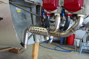 finished 235 aircraft exhaust system