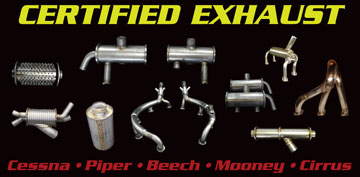 Certified exhaust from Aircraft Exhaust Inc.